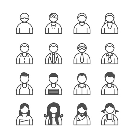 human Icons set. Vector illustration. Stock Vector - 21451524