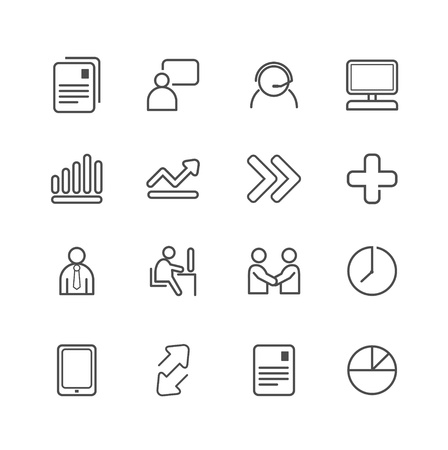 business line Icons set. Vector illustration. Stock Vector - 21451525