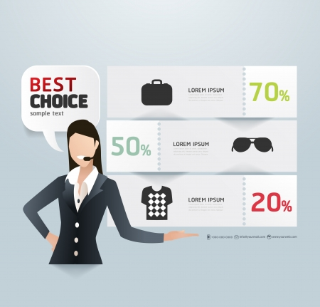 gráfico: Modelo de papel de etiqueta promo Ilustração