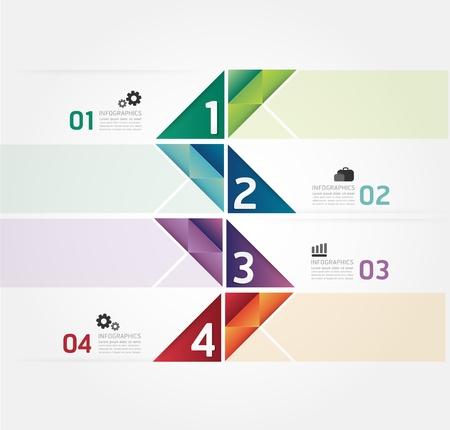 주형: 현대 디자인 최소한의 스타일 인포 그래픽 템플릿  인포 그래픽에 사용할 수 있습니다  번호 배너  가로 컷 아웃 라인  그래픽 또는 웹 사이트 레이아웃 벡터 일러스트