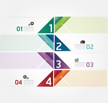 Diseño de plantilla infografía estilo minimalista / se puede utilizar para la infografía / banners numerados / líneas de corte horizontal / vector diseño gráfico o sitio web Foto de archivo - 21451566