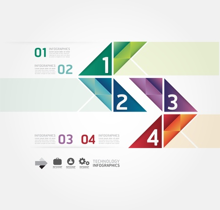 Modern Design Minimal template infografica stile / può essere usato per infografica / banner numerati / linee di ritaglio orizzontale / grafica o al sito web layout di vettore Archivio Fotografico - 21451567