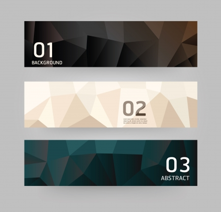 numbers abstract: Labels Abstract Geometric design modern style.vector Illustration