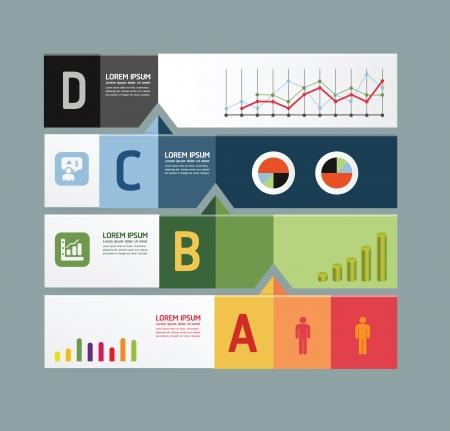 infographic template Modern Design