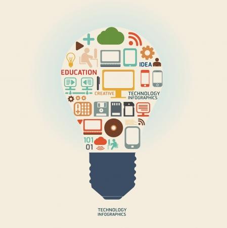 技術: 技術設計模板可用於信息圖表圖形或網站佈局向量 向量圖像