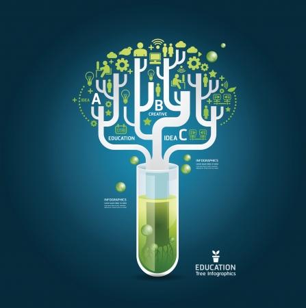 onderzoek: Wetenschap concept design template  kan worden gebruikt voor infographics  grafische of website lay-out vector