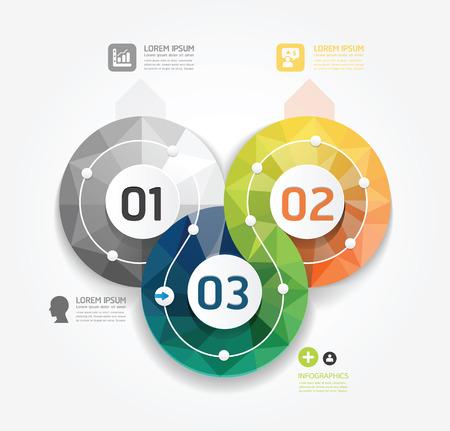 numbered: Stile Minimal geometrica Design moderno modello di infografica  possono essere usati per infografica  numerata banner  grafica o al sito web layout di vettore