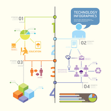 infographics set and Information technology Graphics  graphic or website layout vector Vector