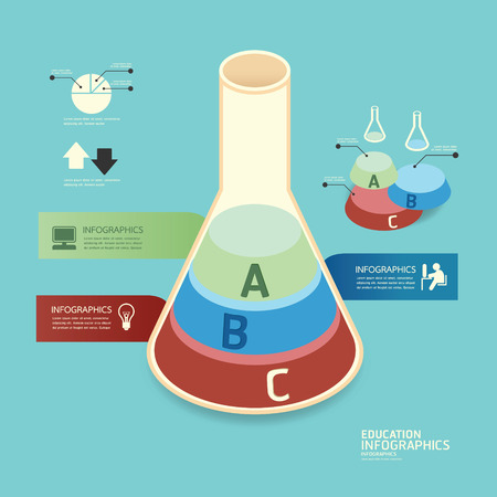 isometric colorful test tube infographicd Modern Design vector. Vector
