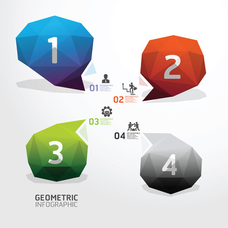 Geometric bubble colorful Modern Design   can be used for infographics  numbered banners Vector