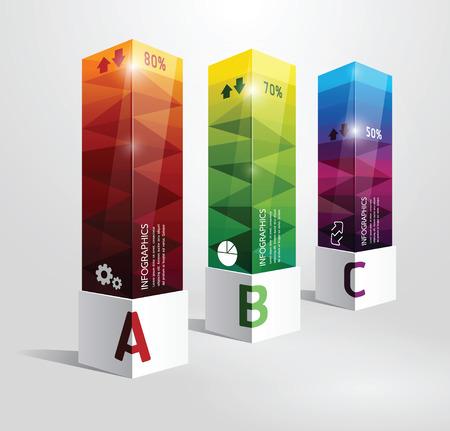Infografik Vorlage Moderne Design-Box Minimal-Stil kann für Infografiken nummeriert Banner horizontal Ausschnitt Linien Grafik-oder Website-Layout Vektor verwendet werden