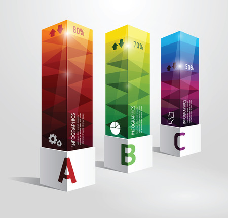 graphisme fond: mod�le infographique bo�te de conception moderne de style minimal peut �tre utilis� pour foot banni�res num�rot�es lignes de d�coupe horizontale ou site web vecteur de mise en page Illustration