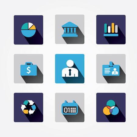 Set design business concept icons and apps  Icons for web design and infographic Vector illustration Stock Vector - 25941380