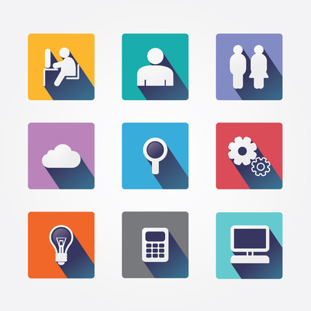 Set design concept icons and apps  Icons for web design and infographic Vector illustration  Vector