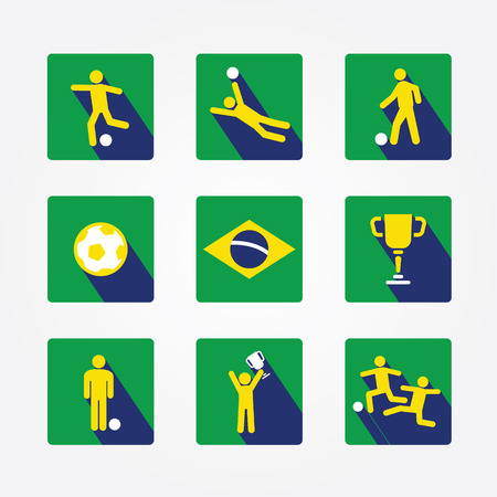 world soccer icons and apps Set design concept  Icons for web design and infographic Vector illustration  Vector