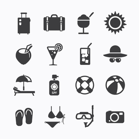 Summer Icons Set design  Icons for web design and infographic Vector illustration  Vector