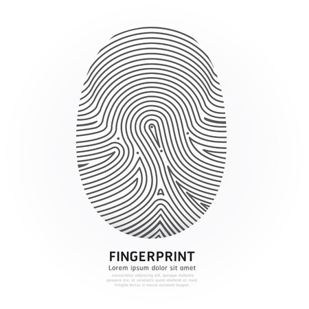 Fingerprint color  Vector