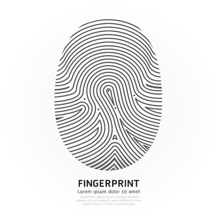 Fingerprint color  Vector
