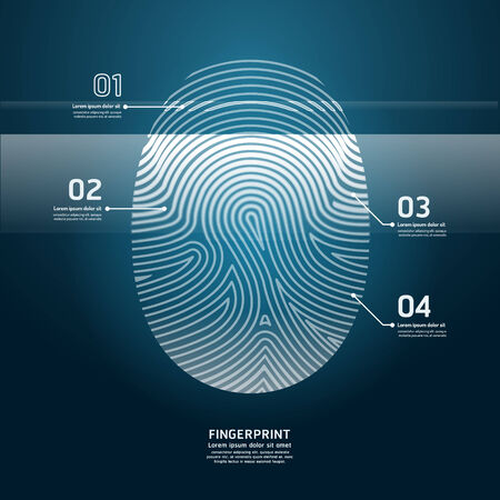 thumb print: Fingerprint Scan vector illustration.