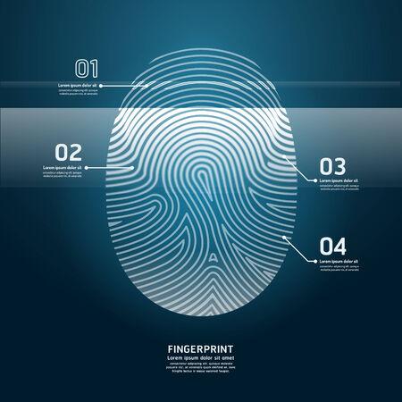 thumb print: Fingerprint Scan vector illustration.
