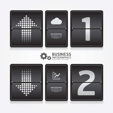 business travel infographic airport timetable design style  can be used for infographics  numbered banners  graphic or website layout vector Vector