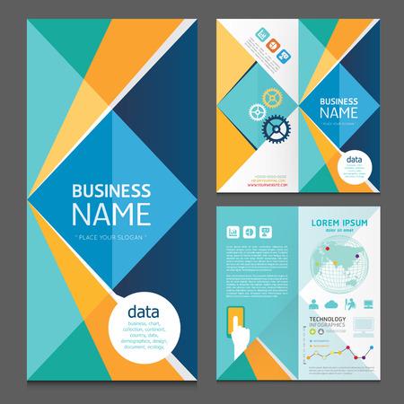 Business brochure modern design template.vector Vectores