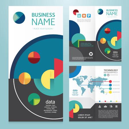 Business brochure modern design template.vector Vector
