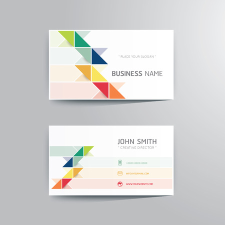 Vector modern creative business card template. Çizim