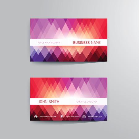 Vector modern creative business card template. Vector