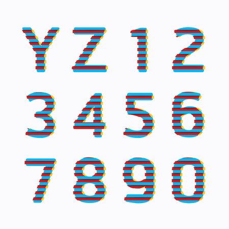 alphabet modern paper line colour concept style Design  Vector illustration  Vector