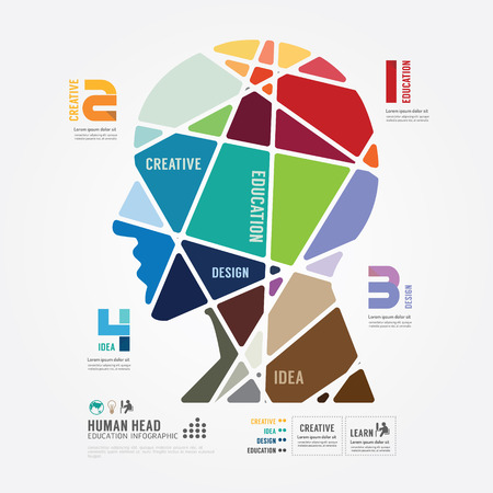 creativo: banner de color Plantilla infografía. concepto de ilustración vectorial