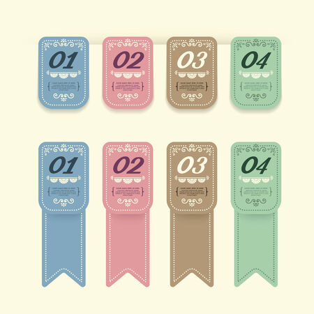 Vintage Design Labels infographic template  can be used for infographics  numbered banners  graphic or website layout vector Vector