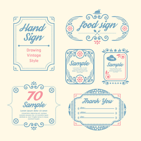 Label Vintage Design Labels infographic template   can be used for infographics   numbered banners   graphic or website layout vector Vector