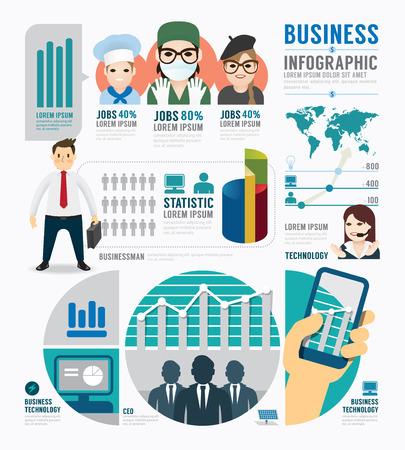 Infographic Business job template design . concept vector illustration