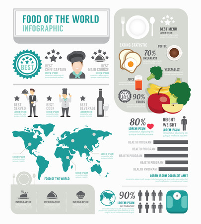 Infographic business of foods template design . concept vector illustration Vector