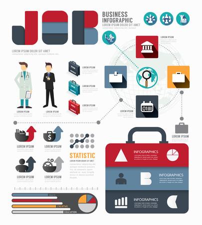 Infographic Business world  job template design . Vector