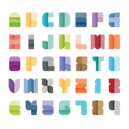 write a letter: Alphabet set,vector illustration.type font paper colour style. Illustration