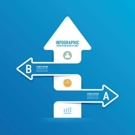 flecha derecha: Opciones infografías línea flecha banner.can ser utilizados para la infografía  numerada banners  gráfico o sitio web de diseño vectorial