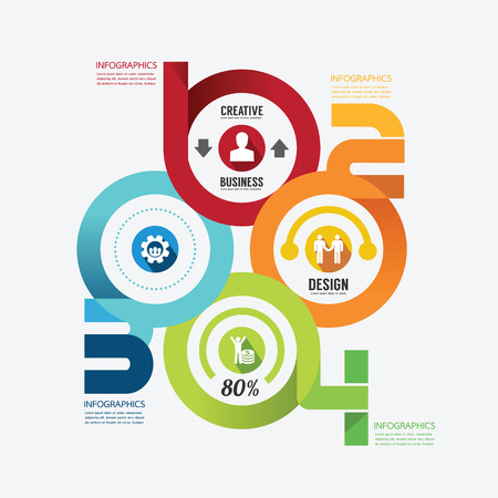 Modern Design infographic circle template.can be used for infographics .graphic or website layout vector Vector