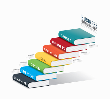 vector book infographic Template.business success concept vector illustration Vector