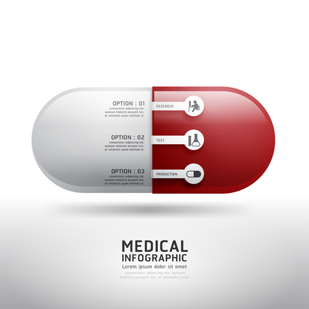 capsule drugs infographic pharmacy medicine medical.Vector illustration. can be used for infographics  banners  concept vector  Vector
