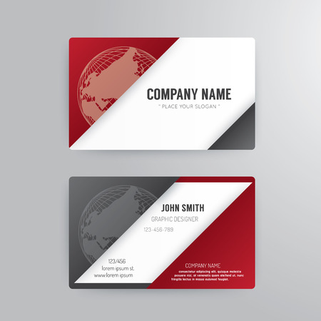 business cards templates: Business card template modern abstract concept design.