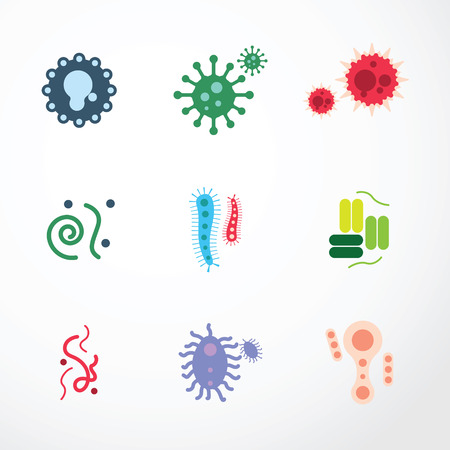 vector virus  icons.