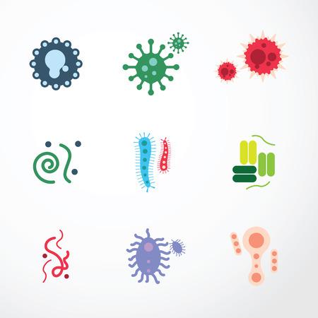 tosiendo: iconos vector virus.