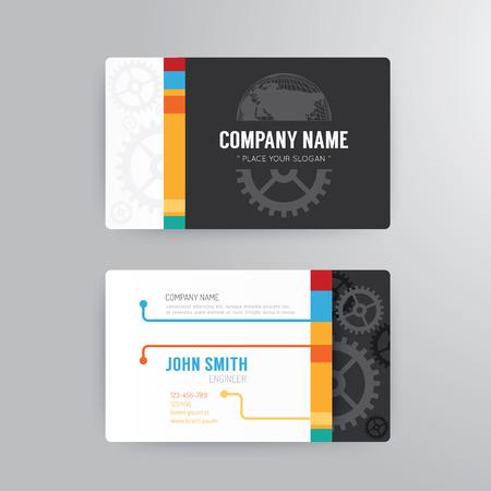 affari: Business card template moderno concetto di disegno astratto. Vettoriali