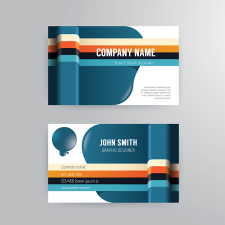 user name: Business card template modern abstract concept design.