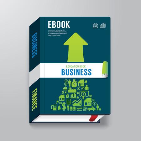 커버 책 비즈니스 디자인 템플릿  E-책 표지  E-매거진 커버  벡터 일러스트 레이 션에 사용할 수 있습니다