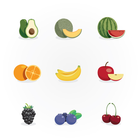 fruits icons design vector Vector