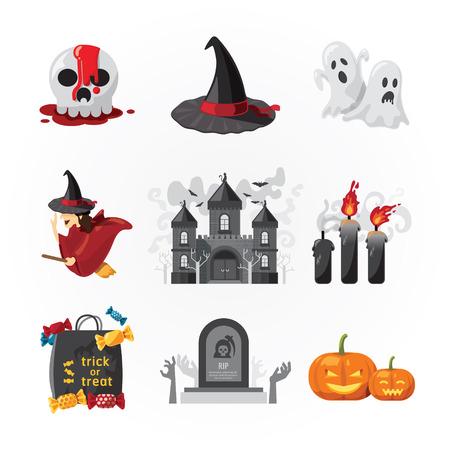 Halloween-Symbole Design-Vektor