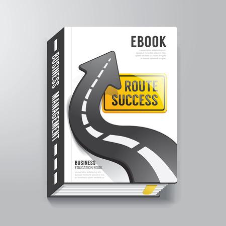 책 표지 디자인 서식 비즈니스 개념  E-책 표지에 사용할 수 있습니다  E-잡지 커버  벡터 일러스트 레이 션